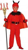 Halloween Rode duivel kostuum voor kinderen 110-116 (5-6 jaar)