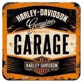 Harley Davidson Garage Onderzetters 9 x 9 cm.  5 stuks.