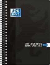 Oxford Collegeblok - A4 - Gelijnd - 23 gaats - 180 pagina's  - Zwart