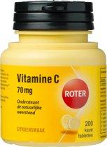 Roter Vitamine C Citroen 70 mg - 200 Kauwtabletten - Vitaminen