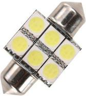 Dome 6 LED C5W SMD Auto Interieur Lamp 36mm