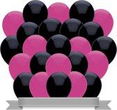 Ballonnen Zwart / Donker Roze (30ST)