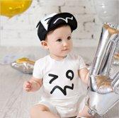 Baby petje en dreumes petje| zwart/wit | 40-47CM | 4-16M