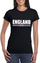 Zwart Engeland supporter t-shirt voor dames XS