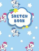 Sketchbook: Sketchbook Unicorn: A Large Journal With Blank Paper For Drawing And Sketching. 100+ Page