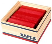KAPLA Kleur - 40 Plankjes - Rood