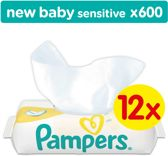 Pampers New Baby Sensitive Billendoekjes - 600 Stuks