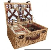 Herfst Rode 4 Persoons Fitted Picnic Mand with Fitted Koeler