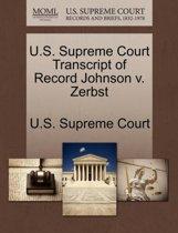 U.S. Supreme Court Transcript of Record Johnson V. Zerbst