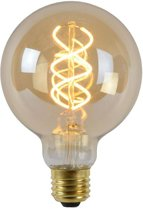 Lucide LED Bulb - Filament lamp - Ø 9,5 cm - LED Dimb. - 1x5W 2200K - Amber