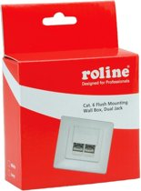 Roline Flush Mounting Box, Cat. 6, Shielded