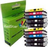10 Pack Compatible Brother LC1100/LC980 BK*4/C*2/M*2/Y*2 inktcartridges, 10 pak. 4 zwart, 2 cyaan, 2 magenta, 2 geel