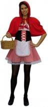 Roodkapje kostuum voor dames 38 (s)