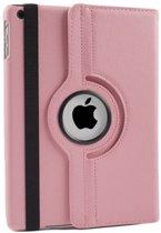 iPad 2/3/4 hoes 360 graden roteerbaar PU Leder Licht-Roze