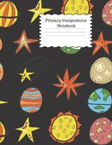 Primary Composition Notebook: Star Themed Story Paper Journal, Dotted Midline and Picture Space - Grades K-2 School Exercise Book - 100 Story Pages