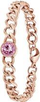 Lucardi - Colours by Kate - Stalen armband roseplated met roze zirkonia