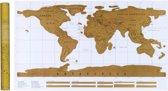 Kras Wereldkaart | Scratch Map | 88 x 52 cm | Goud