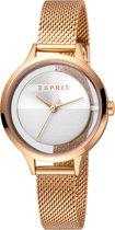 Esprit Lucid ES1L088M0035 horloge - Staal - Roségoudkleurig- Ø 32