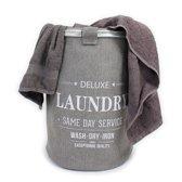 LaundrySpecialist® Wasmand Linnenlook 70L - Trendy Grey