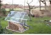 Esschert Design Combi - 2 stuks - Vogelvoederhuisje - Transparant - 15 cm x 15 cm x 15 cm