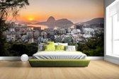 Fotobehang vinyl - Rio de Janeiro in de ochtend breedte 380 cm x hoogte 265 cm - Foto print op behang (in 7 formaten beschikbaar)