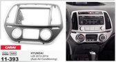 2-DIN HYUNDAI i-20 2012-2014 (Auto Air-Conditioning) inbouwpaneel Audiovolt 11-393