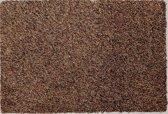 Ecologische katoenen droogloopmat bruin, zonder boord - 58 x 118 cm