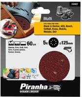 Piranha Schuurschijf  excentrische schuurmachine 125mm, 60K 5 stuks X32027