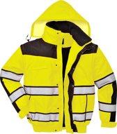 Portwest Hi-vis classic bomber jacket, Geel/Zwart, Maat L