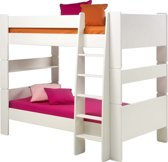 Oliver Kids - Stapelbed - 90x200 cm - Wit - Inclusief lattenbodem