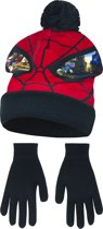 Kindermuts set|spiderman|rood/zwart Mt 52