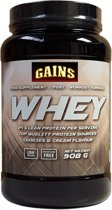 GAINS Whey Protein - Cookies & Cream (908g)