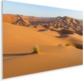 Zandduinen in de Afrikaanse woestijn Erg Chebbi Plexiglas 90x60 cm - Foto print op Glas (Plexiglas wanddecoratie)