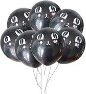 Fabs World ballon zwart met kat motief