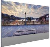 Pont des Arts Parijs Aluminium 30x20 cm - klein - Foto print op Aluminium (metaal wanddecoratie)
