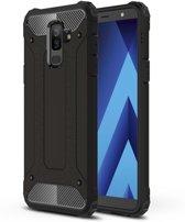 Armor Hybrid Hoesje Samsung Galaxy A6 Plus (2018) - Zwart