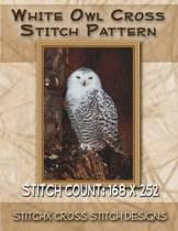 White Owl Cross Stitch Pattern