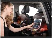 autostoel organizer - model 2019 - lederlook -  tablethouder en opklaptafel – Baby Auto organizer – auto organizer – Rugleuning organiser – Geschikt voor elke maat iPad / Android – zwart