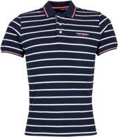 Tenson Poloshirt - Maat XL  - Mannen - donker blauw/wit/rood