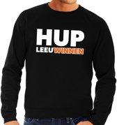 Nederland supporter sweater / trui Hup LeeuWinnen zwart heren - landen kleding L