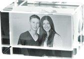 2D Foto in hoogwaardig glas. Afm: 80 x 50 x 50 mm Liggend formaat.
