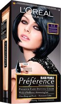 L'Oréal Paris Préférence Black Pearls 1.1 Cool Black Pearl Intens Ijzig zwart - Haarkleuring