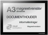 Magneetvenster A3 (uitwisbaar) - Zwart