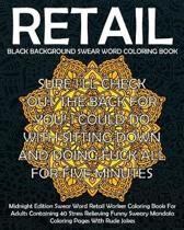 Black Background Swear Word Retail Coloring Book