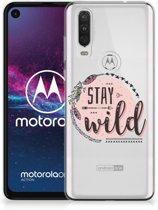 Telefoonhoesje met Naam Motorola One Action Boho Stay Wild