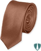 Bruine stropdas skinny