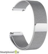 SmartphoneClip Milanees bandje geschikt voor Fitbit Versa zilver