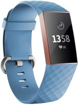 123Watches.nl Fitbit charge 3 sport wafel band - blauw - ML