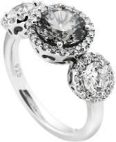 Diamonfire - Zilveren ring met steen Maat 16.5 - Fancy Colors - Zirkonia