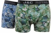 J&C heren short 2-pak Dots 239  - L  - Blauw